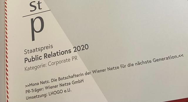 Staatspreis Public Relations 2020