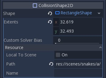 KinematicBody2D collision shape