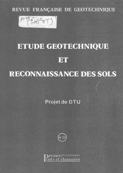 Etude géotechnique et reconnaissance des sols