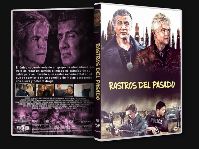 BACKTRACE (2018) RASTROS DEL PASODO  caratula dvd + label