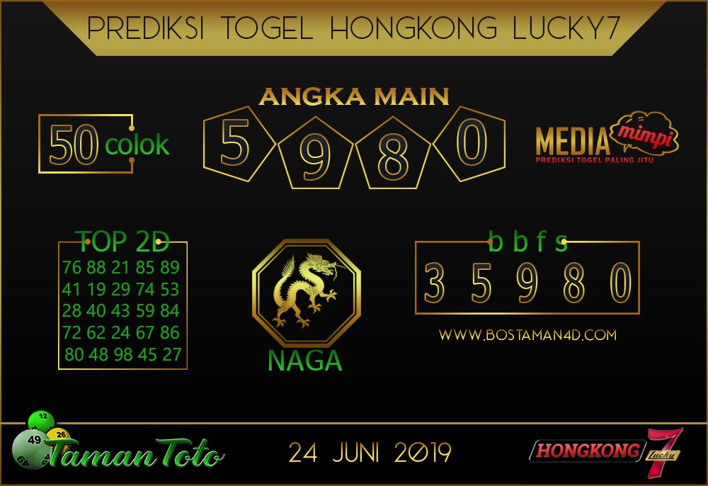 Prediksi Togel HONGKONG LUCKY 7 TAMAN TOTO 24 JUNI 2019
