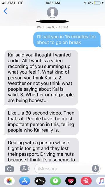 Greg to Sarah Texts: Be an Adult