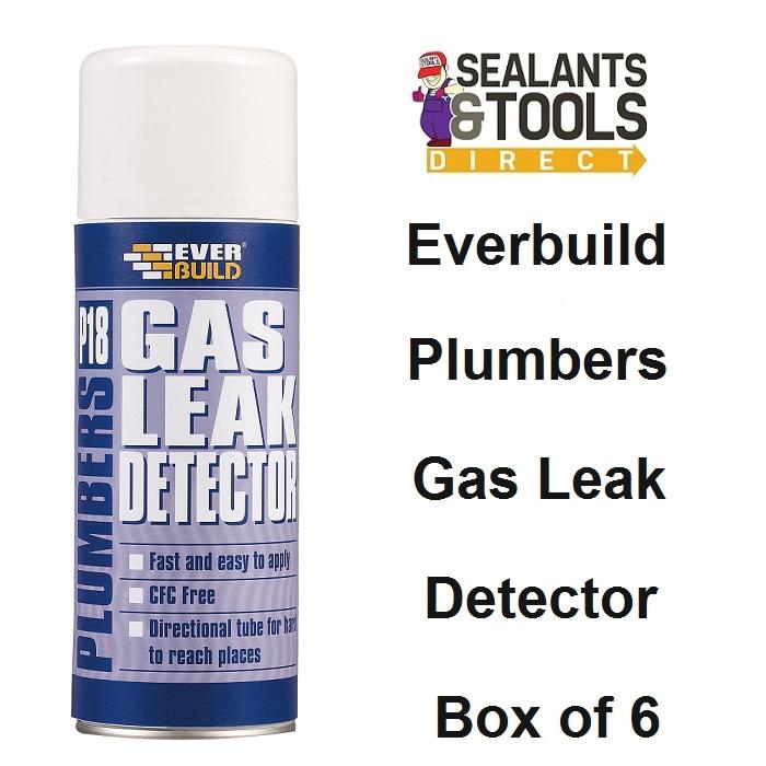 Everbuild P18 Plumbers Gas Leak Detector Spray Box of 6