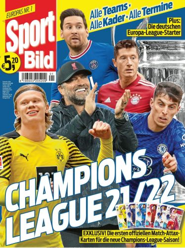 Cover: Sport Bild Sonderheft Champions League 2021-2022