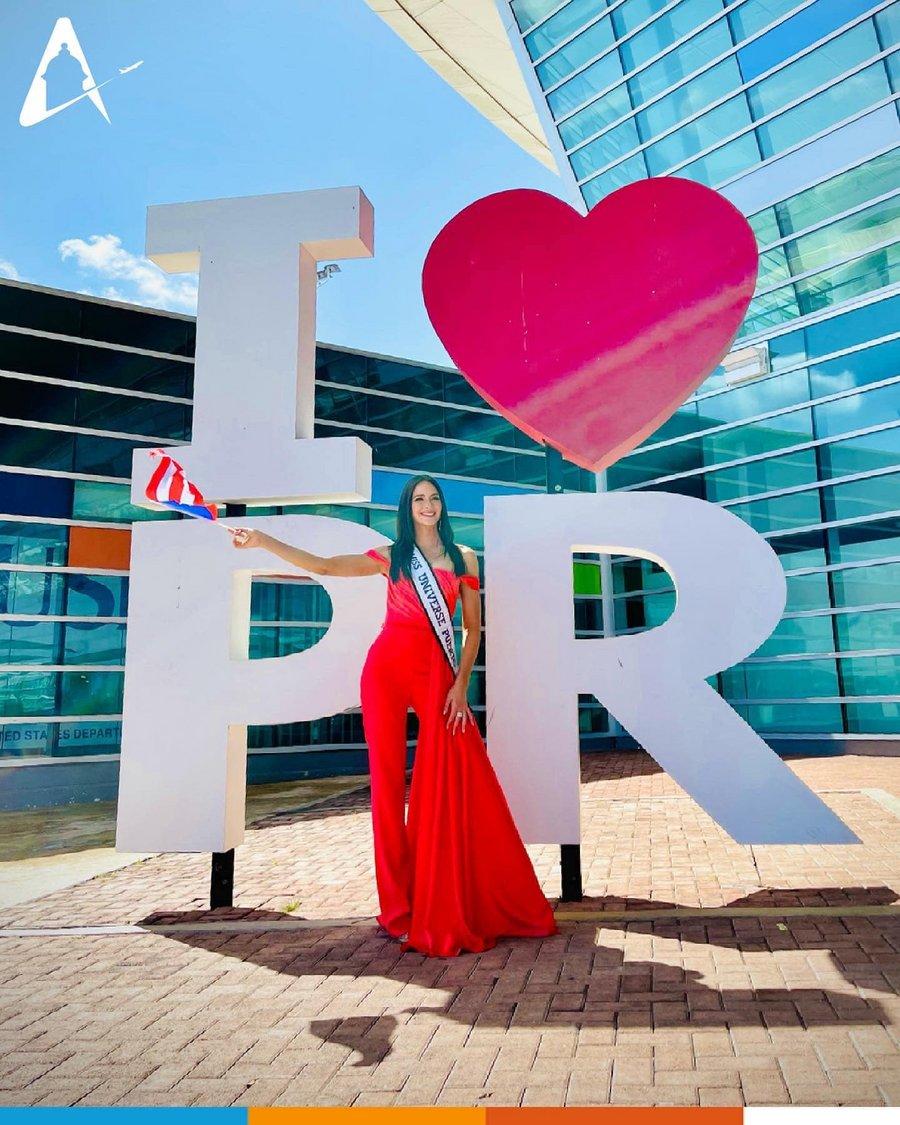 Ya parte hacia la sede Miss Universe Puerto Rico, Estefanía Soto - Fotos Es8