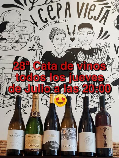 Cata mensual de vinos Valencia