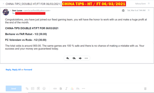 CHINA DOUBLE HT FT FIXED MATCHES