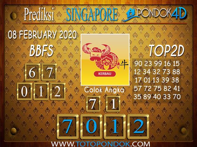 Prediksi Togel SINGAPORE PONDOK4D 08 FEBRUARY 2020