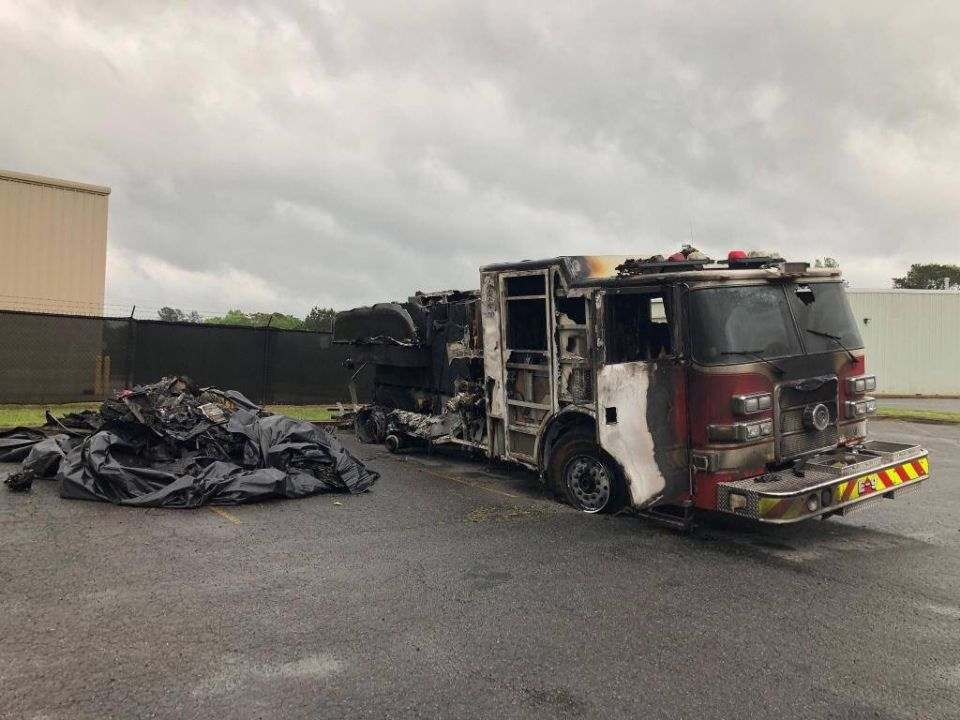 Cobb County GA engine destroyed after being rear ended