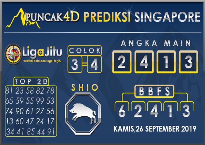PREDIKSI TOGEL SINGAPORE PUNCAK4D 26 SEPTEMBER 2019