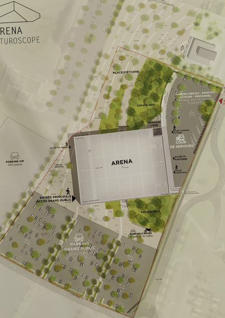 « Arena Futuroscope » grande salle de spectacles et de sports · décembre 2021 - Page 9 Plan-de-masse