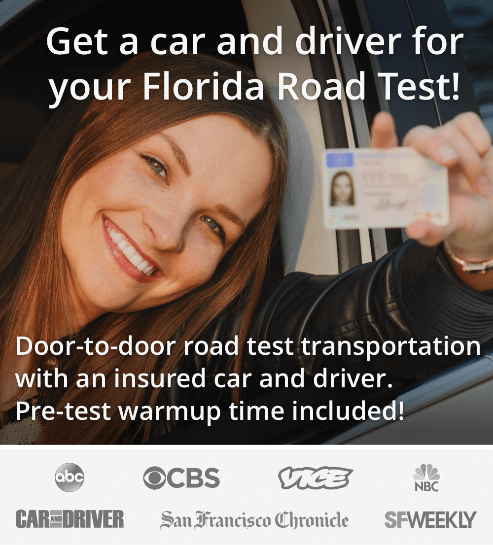 Get a car and driver for your Florida road test