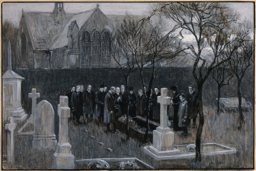 An image of a funeral in Edinburgh.