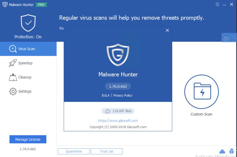 عملاق مكافحة التجسس الهاكر الفيروسات Glary-Malware-Hunter