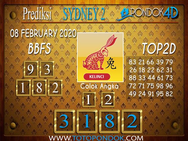 Prediksi Togel SYDNEY 2 PONDOK4D 08 FEBRUARY 2020