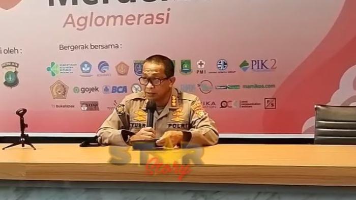 Kabid Humas Polda Metro Jaya Kombes Pol Yusri Yunus saat beri keterangan perihal laporan Rizky Billar terkait pencemaran nama baik.