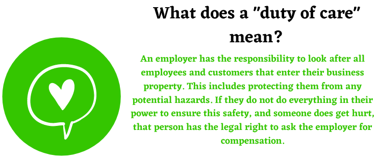 duty of care definition about a work accident