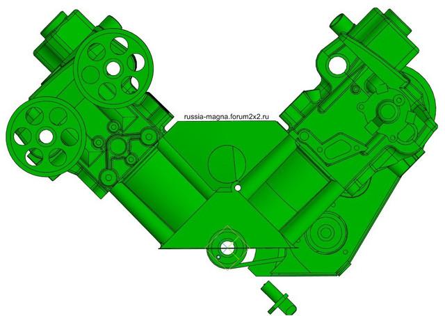 ВАЗ-V8. Восьмицилиндровый из двух вазовских. V8-2