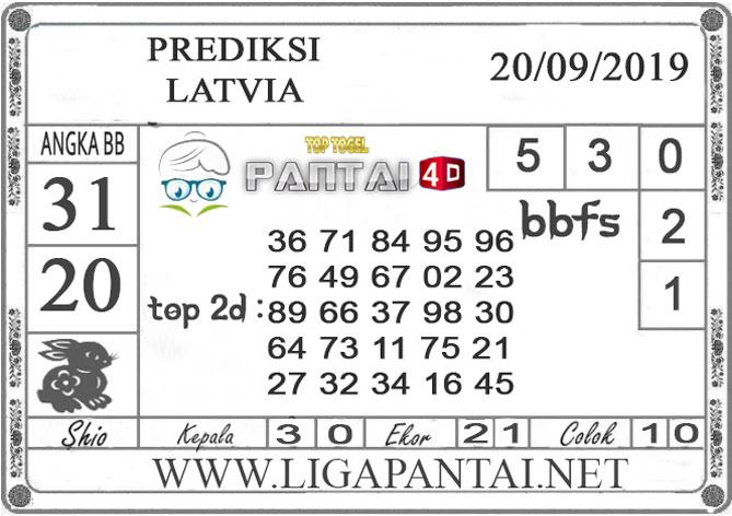 "PREDIKSI TOGEL ""LATVIA"" PANTAI4D 20 SEPTEMBER 2019"