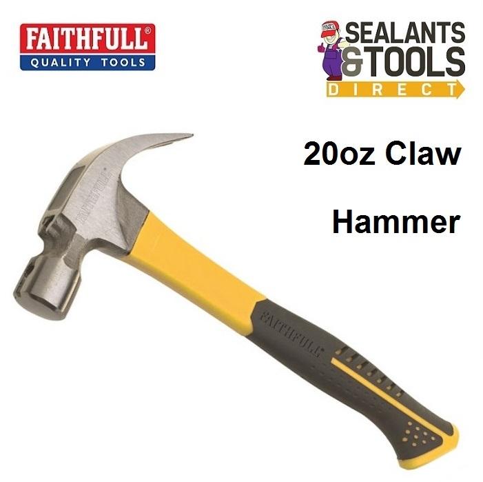 Faithfull-XMS17-FGHAM-Fiberglass-Claw-Hammer-20oz-FAICH20-FG