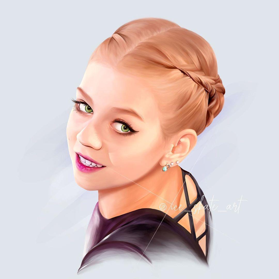 @ice_skate_art - лицо Александры Трусовой