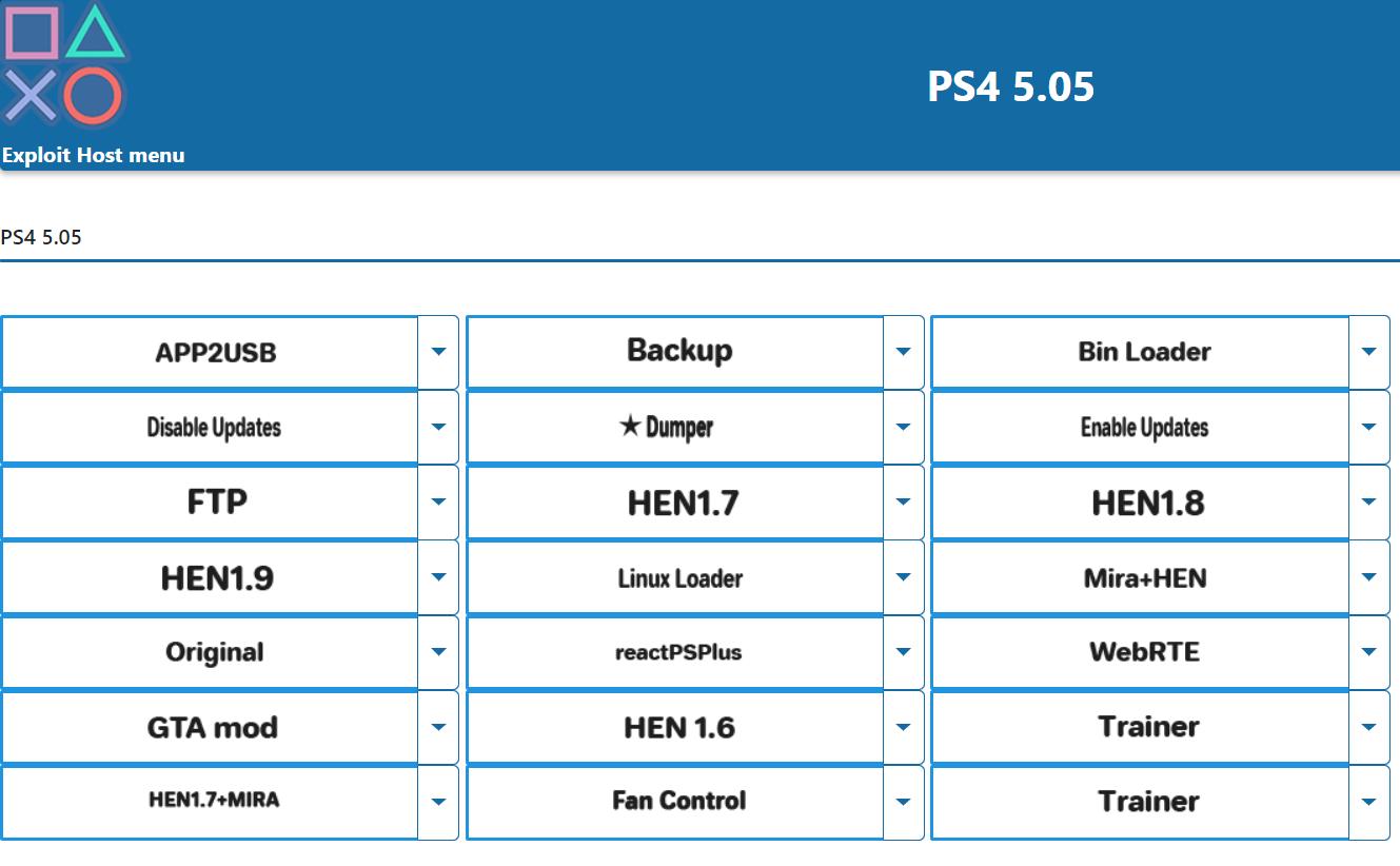 PS4 - Exploit Host menu 5 05 | PSX-Place