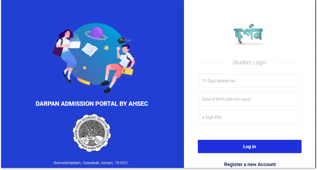 Assam Higher Secondary Online Admission with Darpan Portal 2021 – HS 1st Year Marit List