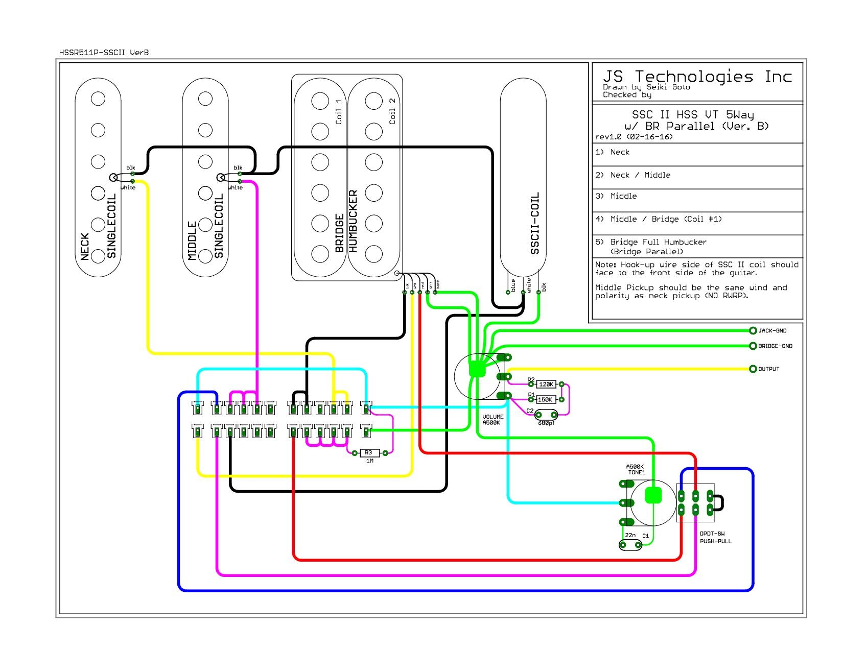 Suhr HSS (guitar no 2) schematic help | GuitarNutz 2Guitar Nuts 2 - ProBoards