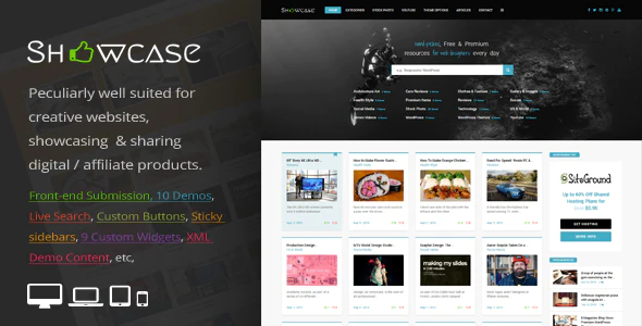 ThemeForest - Showcase v2.9 - Responsive WordPress Grid / Masonry Blog Theme - 14842187