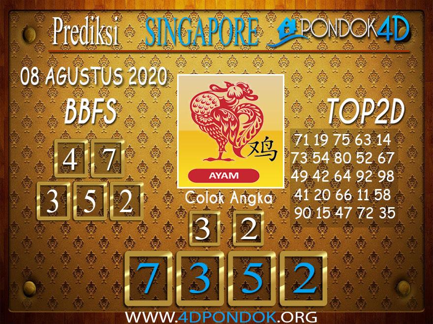 Prediksi Togel SINGAPORE PONDOK4D 08 AGUSTUS 2020