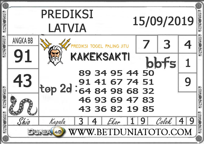 """Prediksi Togel """"LATVIA"""" DUNIA4D 15 SEPTEMBER 2019"""