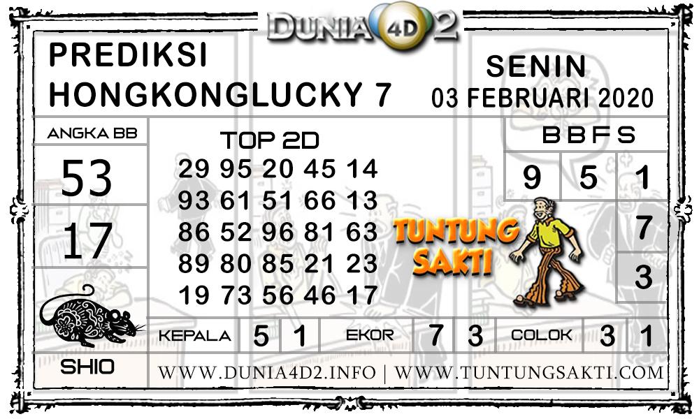 Prediksi Togel HONGKONG LUCKY7 DUNIA4D2 03 FEBRUARI 2020