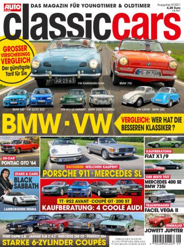 Cover: Auto Zeitung Classic Cars Magazin No 09 2021