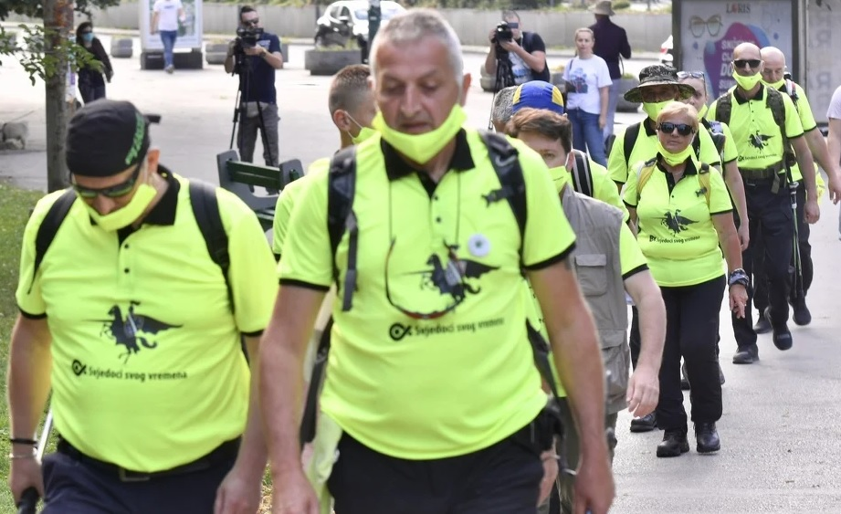 SIMBOLIČAN BROJ ZBOG PANDEMIJE! Učesnici Marša mira krenuli iz Sarajeva ka Nezuku