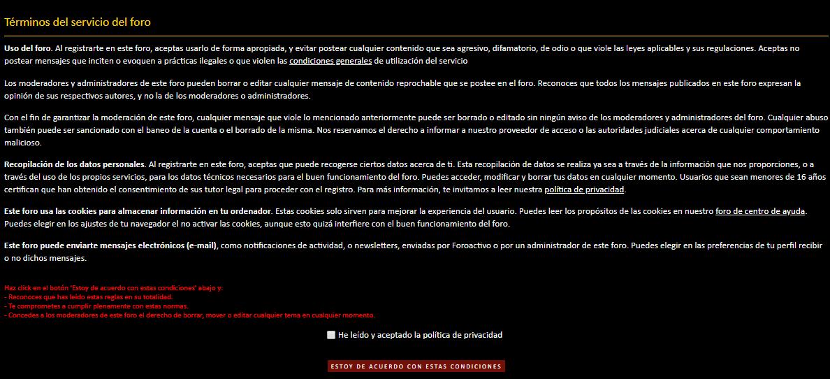 """main-content - No permite registrarse a nuevos usuarios porque no aparece la opción """" He leído y aceptado los términos de servicio"""" Descarga"""