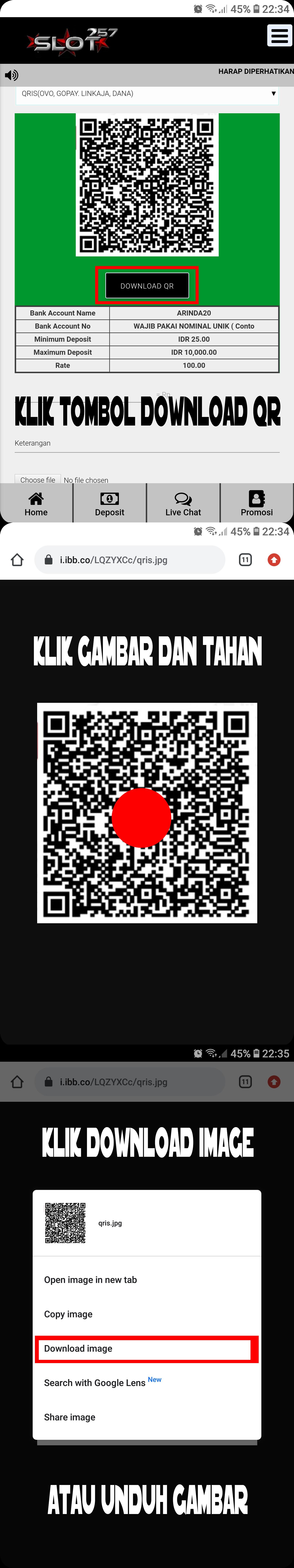 Cara Deposit QRIS Tanpa Scan