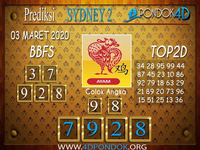 Prediksi Togel SYDNEY 2 PONDOK4D 03 APRIL 2020