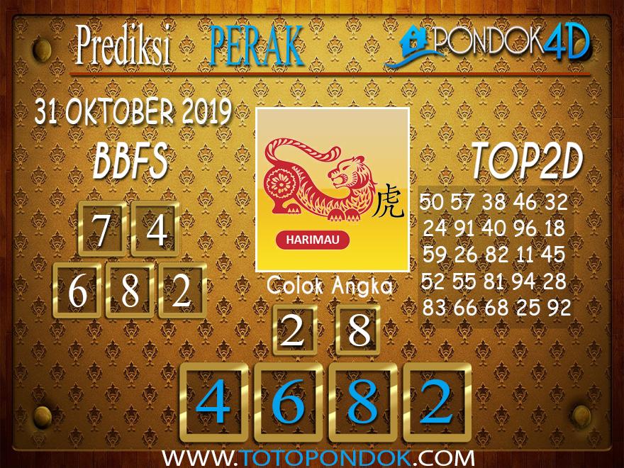 Prediksi Togel PERAK PONDOK4D 31 OKTOBER 2019