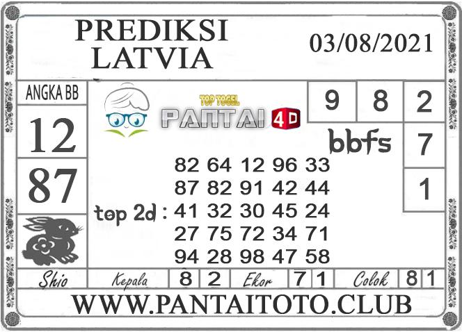 PREDIKSI TOGEL LATVIA PANTAI4D 02 AGUSTUS 2021