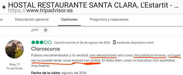 Santa-Clara-estartit-food-review-estartit