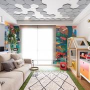 Hexagonal-cinza