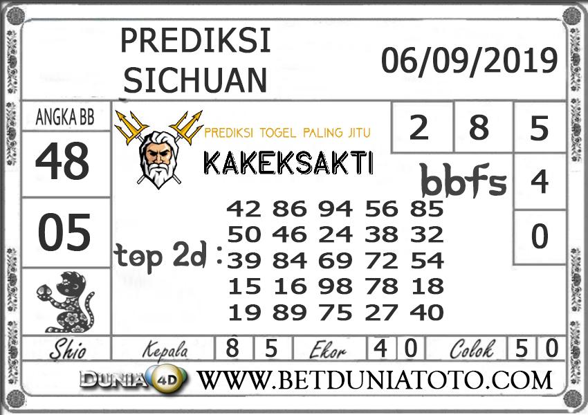 "Prediksi Togel ""SICHUAN"" DUNIA4D 06 SEPTEMBER 2019"