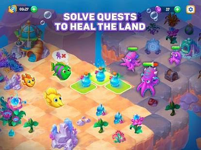 Sea Merge Fish Games in Aquarium & Ocean Puzzle 8