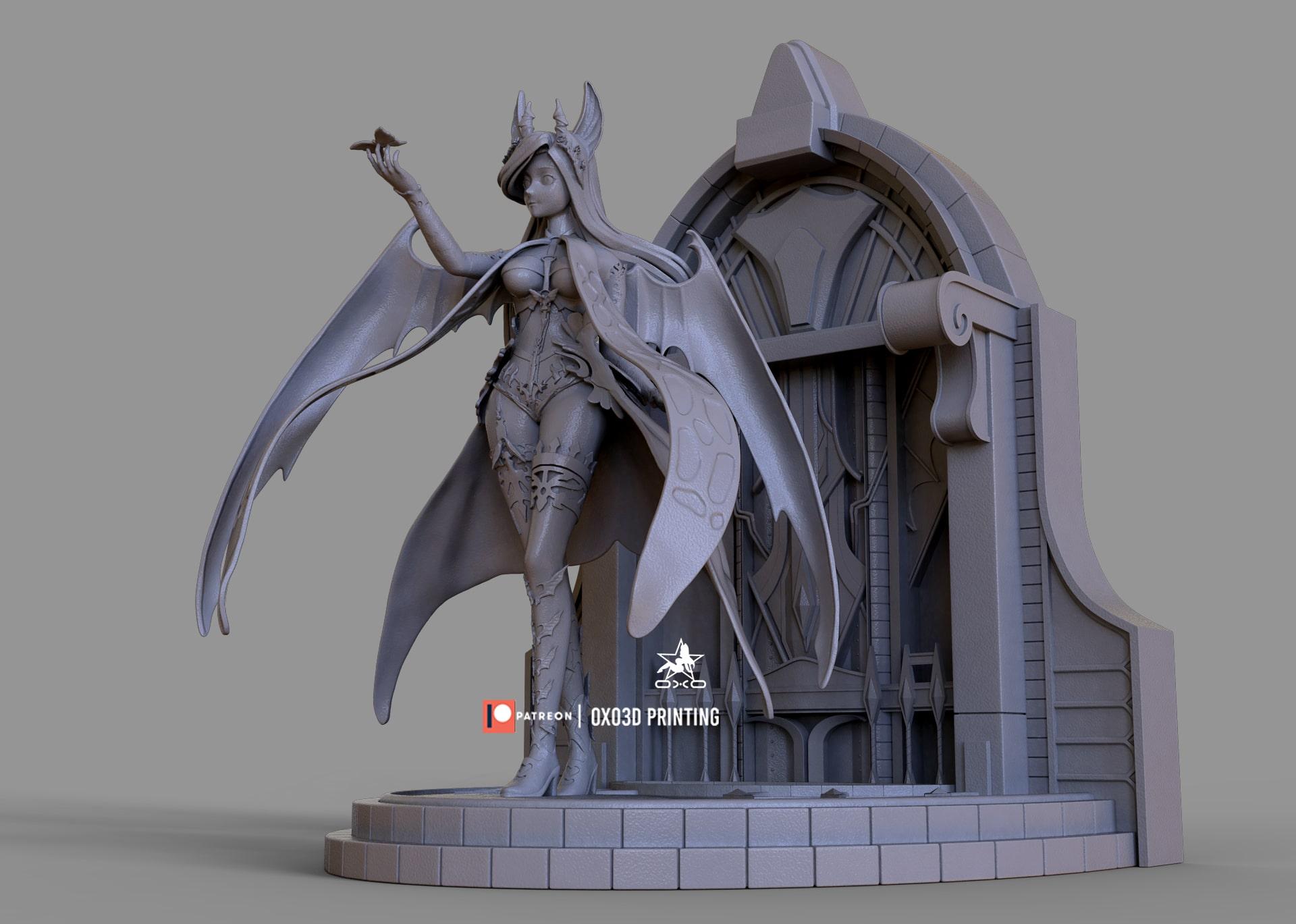 Mabinogi Succubus Queen 3D Print Model STL