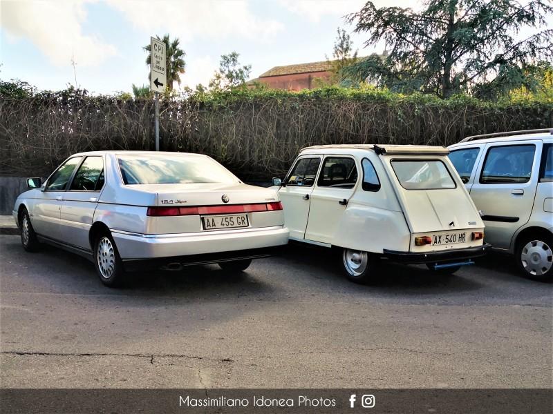 avvistamenti auto storiche - Pagina 40 Alfa-Romeo-164-Super-Twin-Spark-2-0-144cv-94-AA455-GR-209-633-7-1-2020-e-Citroen-Dyane-6-600-31cv-74-AX540-HR-1