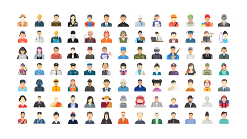 100 Human Avatars Icons 33169604 - Project for After Effects (Videohive)