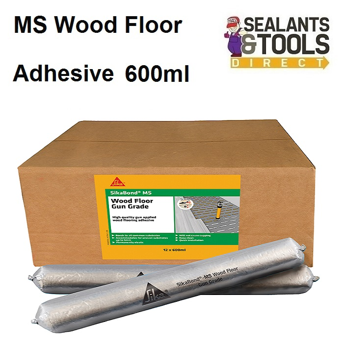 Sika Sikabond MS Wood Floor Adhesive 600ml Box 12 FPSKBDMSFL6