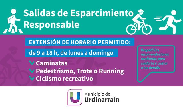 Locales: URDINARRAIN EXTIENDE EL HORARIO DE LAS ACTIVIDADES DE ESPARCIMIENTO RECREATIVAS Y FÍSICAS