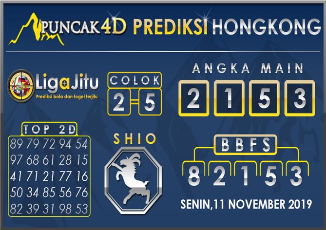 PREDIKSI TOGEL HONGKONG PUNCAK4D 11 NOVEMBER 2019