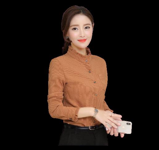 Chemisiers-Femme-Mode-Col-Mandarin-Mousseline-De-Soie-L-automne-Une-Veste-Chemise-En-Bas-Blanc-13649.png